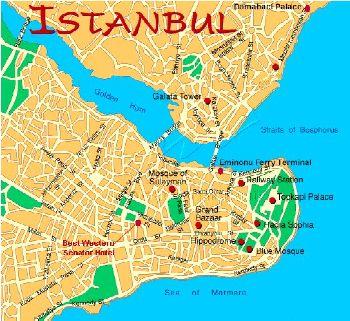 Info O Istanbul Bosphore Carte
